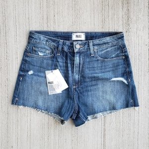 NWT Paige Margot High Waist Shorts Deconstructed